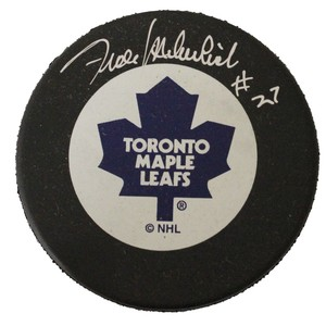 Frank Mahovlich Autographed Toronto Maple Leafs Puck