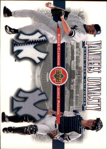 Photo of 2002 Upper Deck Yankee Dynasty Memorabilia #YJCP Roger Clemens Jsy/Jorge Posada Jersey