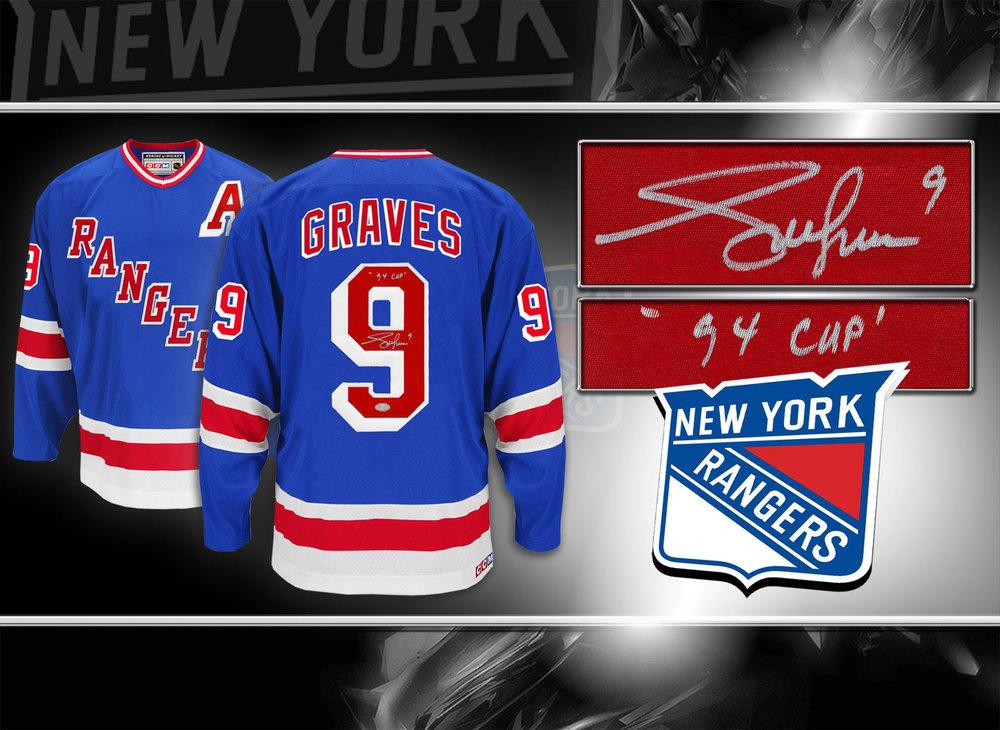 Adam Graves New York Rangers 94 Cup CCM Autographed Jersey