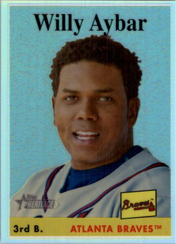 Photo of 2007 Topps Heritage Chrome Refractors #THC70 Willy Aybar