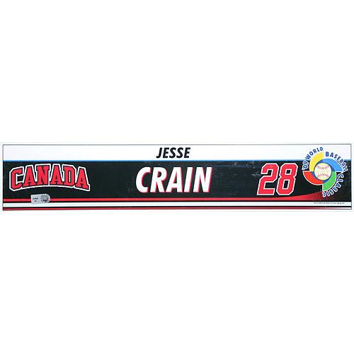 Photo of 2009 World Baseball Classic: Jesse Crain (CAN) Game-Used Locker Name Plate