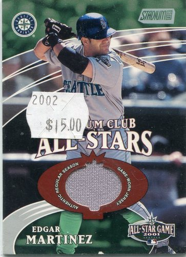 Photo of 2002 Stadium Club All-Star Relics  Edgar Martinez game worn jersey