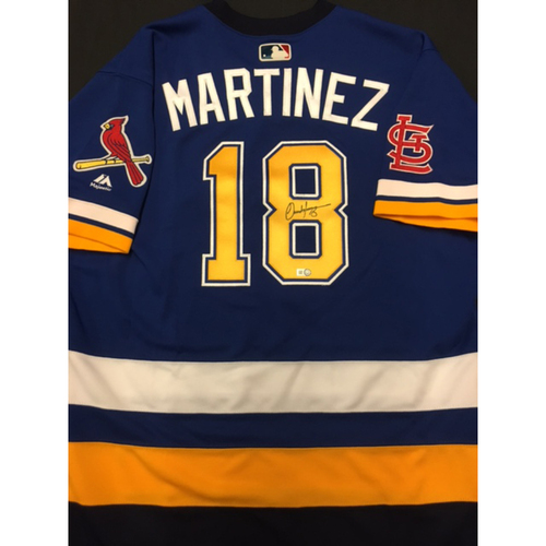 Photo of Cardinals Care Auction: Carlos Martinez Autographed Team-Issued St. Louis Blues Themed Cardinals Jersey