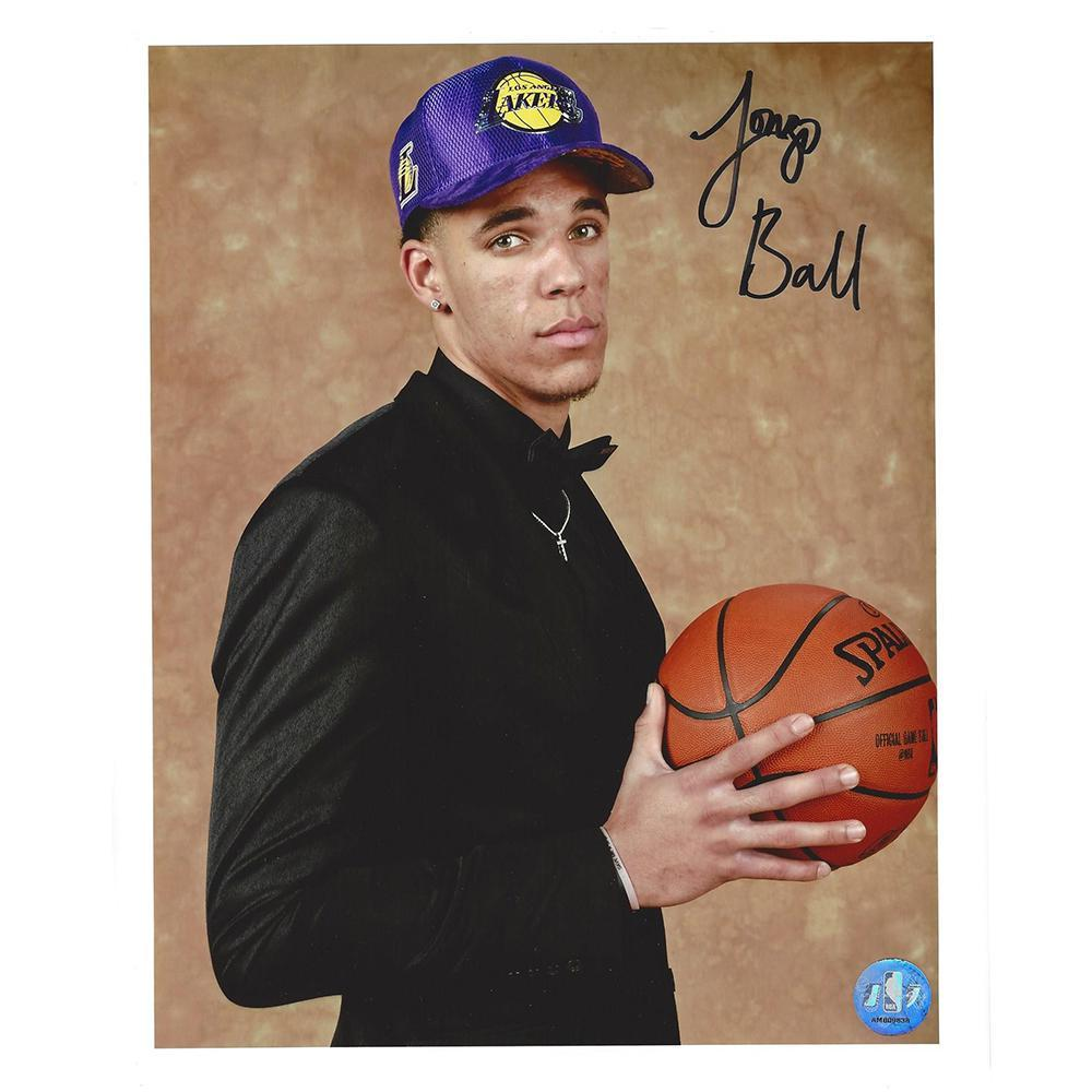 Lonzo Ball - Los Angeles Lakers - 2017 NBA Draft - Autographed Photo