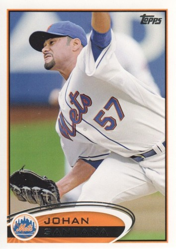 Photo of 2012 Topps #479 Johan Santana