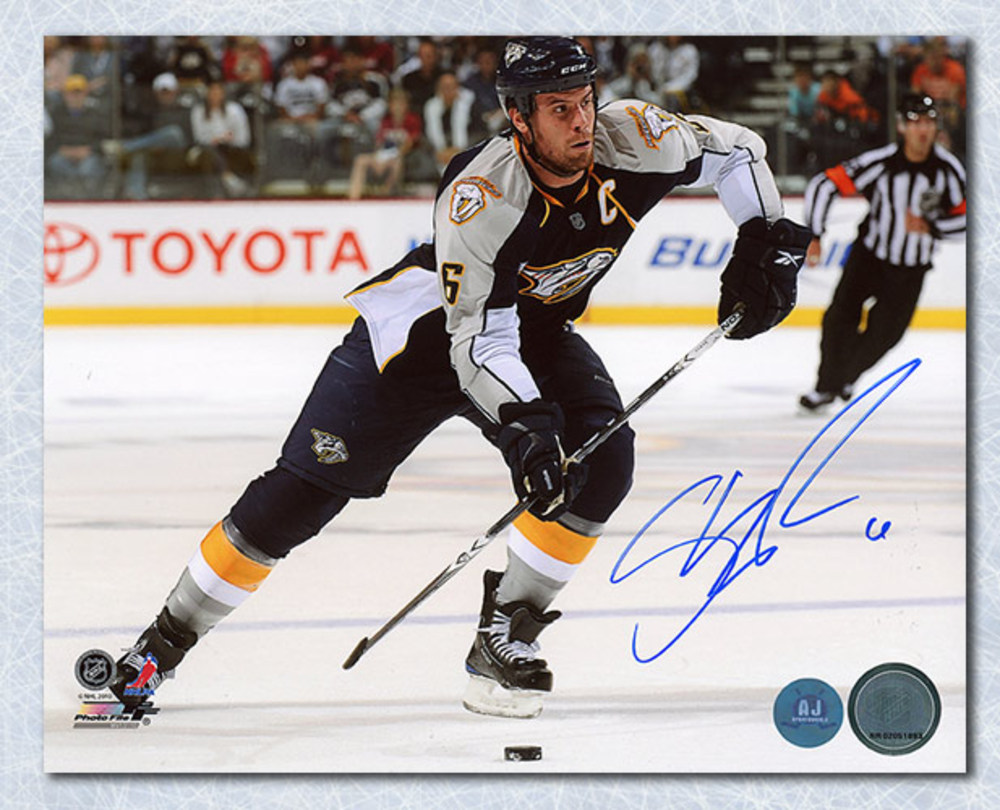 Shea Weber Nashville Predators Autographed Captain 8x10 Photo