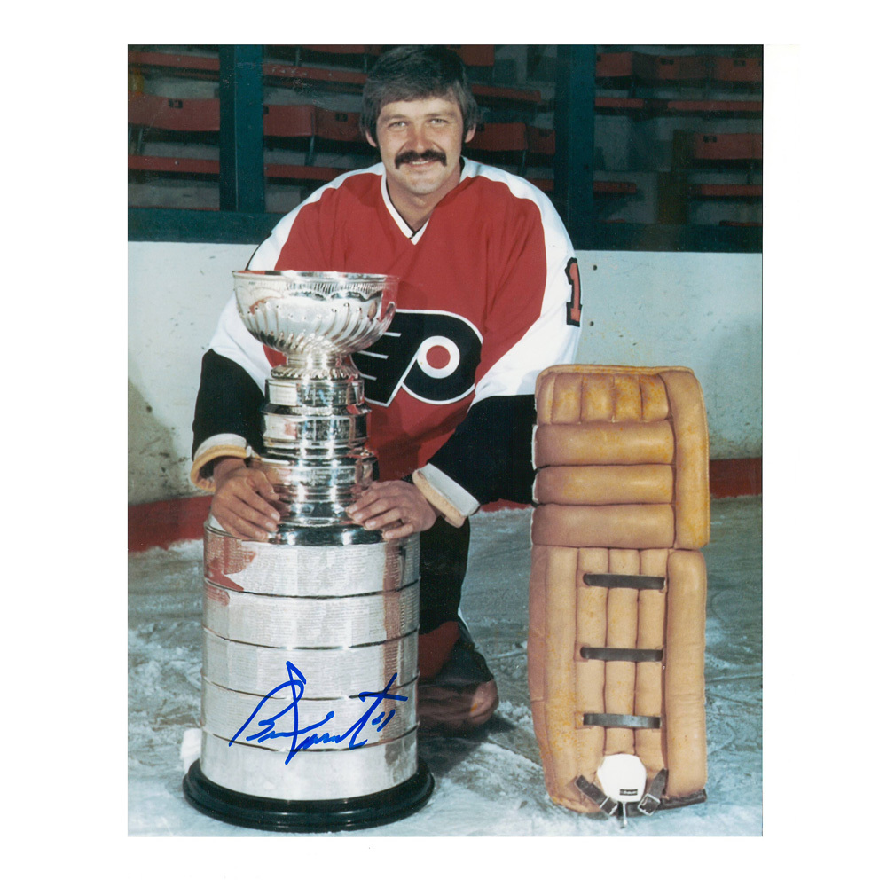 BERNIE PARENT Signed Philadelphia Flyers Stanley Cup 8 X 10 Photo - 70187