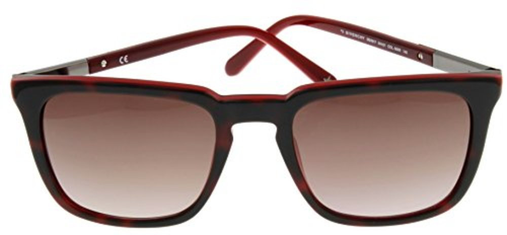 GIVENCHY SGV 817 06XR Red Havana/Brown Gradient Sunglasses