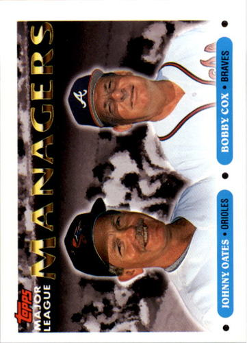 Photo of 1993 Topps #501 Johnny Oates MG/Bobby Cox MG