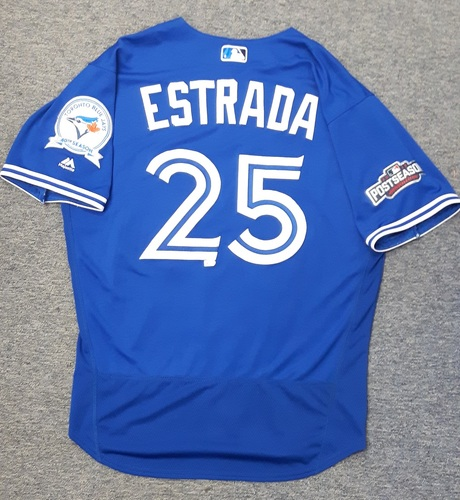 Photo of Authenticated Game Used Jersey - #25 Marco Estrada (2016 Postseason for Wild Card Game and ALDS Game 3)