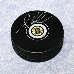 Gregory Campbell Boston Bruins Autographed Hockey Puck *Columbus Blue Jackets*
