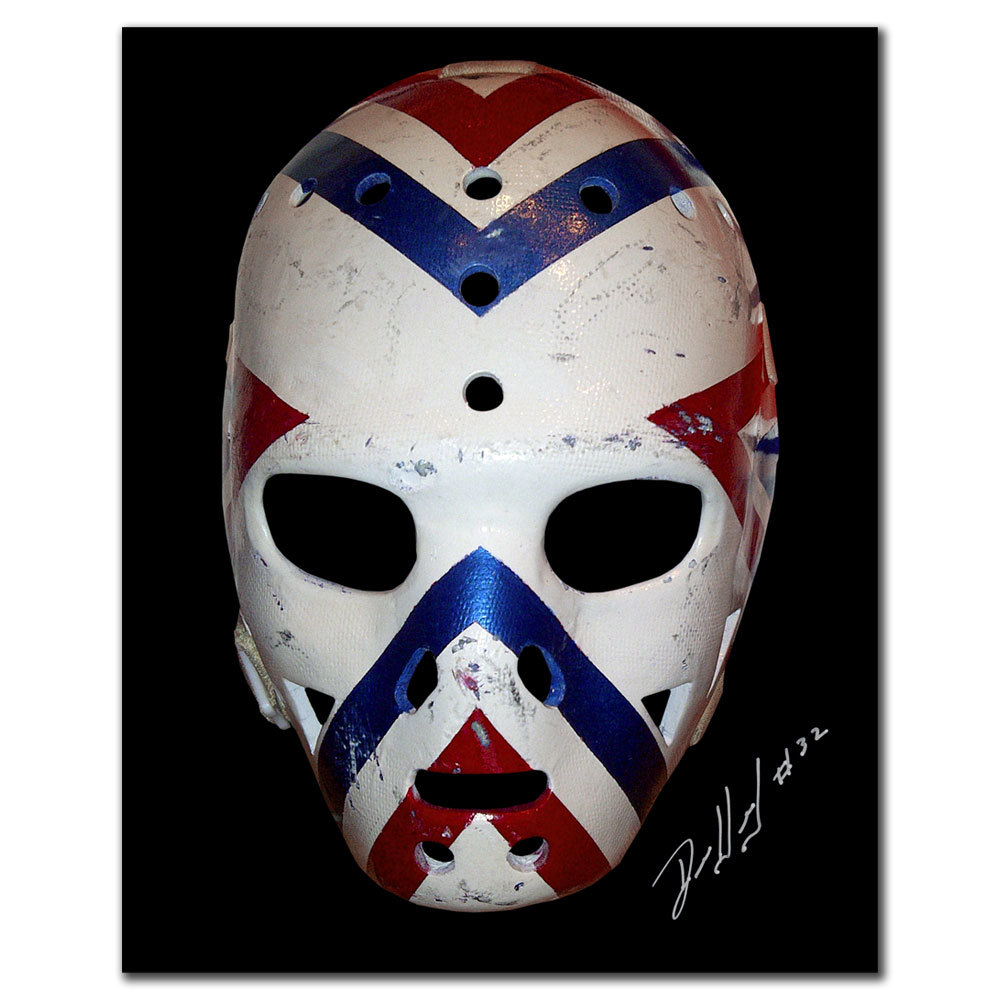Denis Herron Montreal Canadiens Mask Autographed 8x10