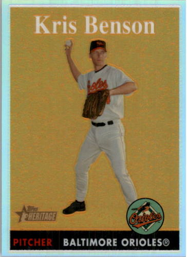 Photo of 2007 Topps Heritage Chrome Refractors #THC73 Kris Benson
