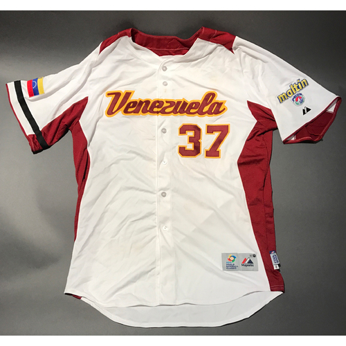 Photo of 2009 World Baseball Classic Jersey - Venezuela Jersey, Henderson Alvarez #37