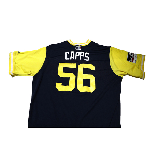 "Photo of Carter ""Capps"" Capps San Diego Padres Game-Used Players Weekend Jersey"
