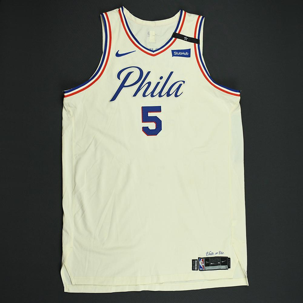 Amir Johnson - Philadelphia 76ers - 2018 NBA Playoffs Game-Worn City Jersey