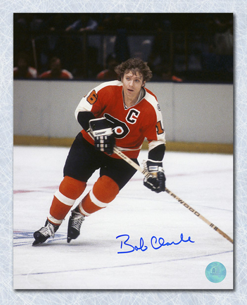 Bobby Clarke Philadelphia Flyers Autographed Hockey Captain 8x10 Photo