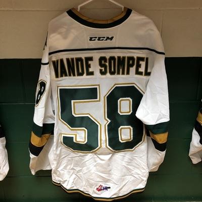 Mitchell Vande Sompel 2016-2017 White Game Jersey