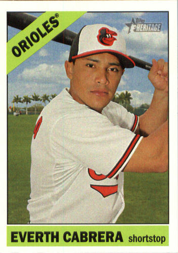 Photo of 2015 Topps Heritage #610 Everth Cabrera