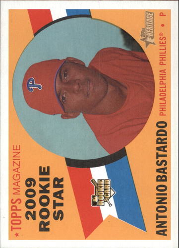 Photo of 2009 Topps Heritage #515 Antonio Bastardo RC