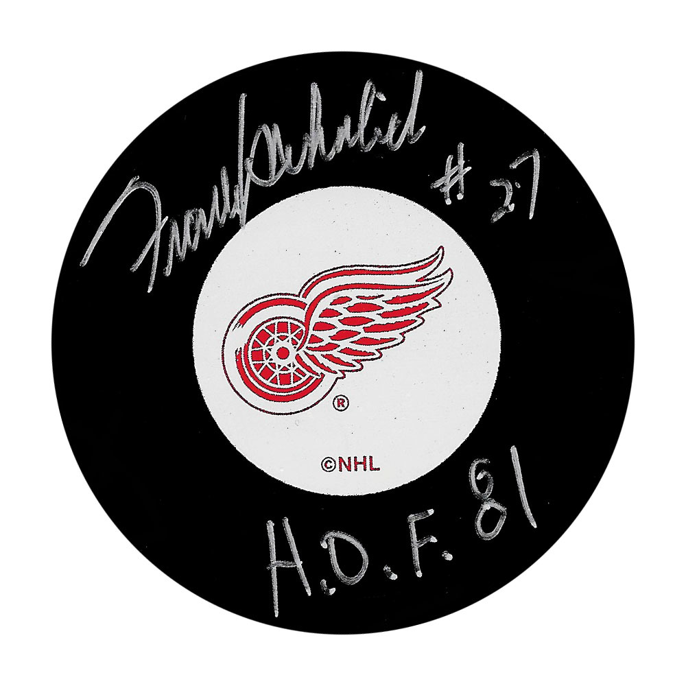 Frank Mahovlich Autographed Detroit Red Wings Puck