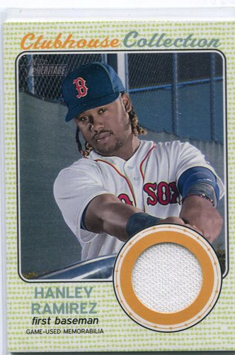Photo of 2017 Topps Heritage Clubhouse Collection Relics #CCRHR Hanley Ramirez