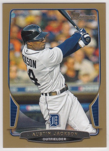 Photo of 2013 Bowman Gold #63 Austin Jackson -- Indians post-season