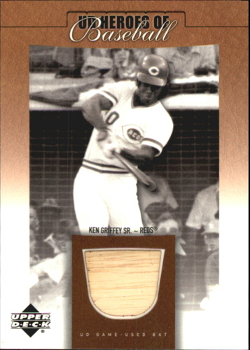 Photo of 2001 Upper Deck Prospect Premieres Heroes of Baseball Game Bat #BKEG Ken Griffey Sr.