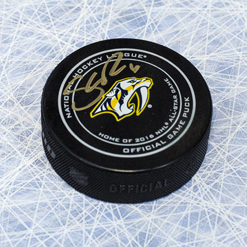 Shea Weber Nashville Predators Autographed Official NHL Game Puck