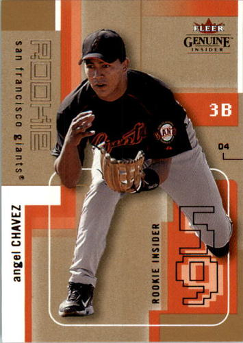 Photo of 2004 Fleer Genuine Insider Mini Parallel 137 #95 Angel Chavez RI