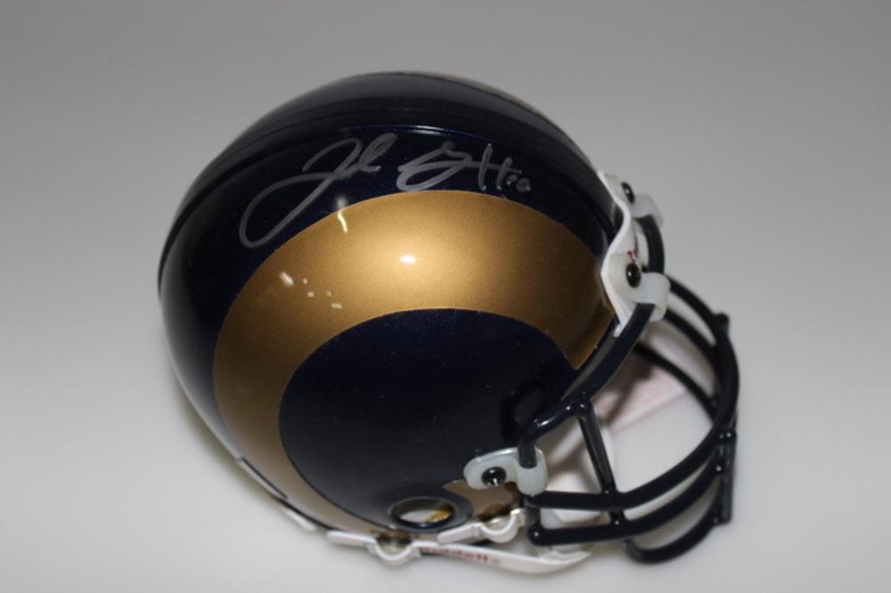 NFL - RAMS JARED GOFF SIGNED RAMS MINI HELMET
