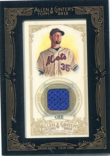 Photo of 2012 Topps Allen and Ginter Relics #DG Dillon Gee-- Twins post-season