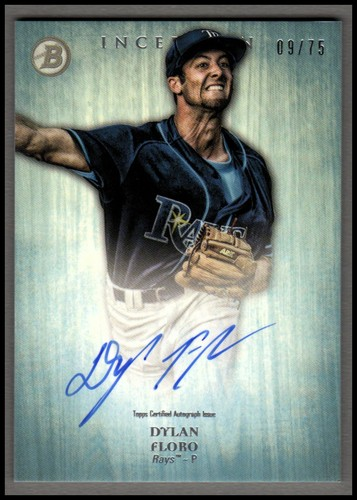 Photo of 2014 Bowman Inception Prospect Autographs Blue #PADF Dylan Floro