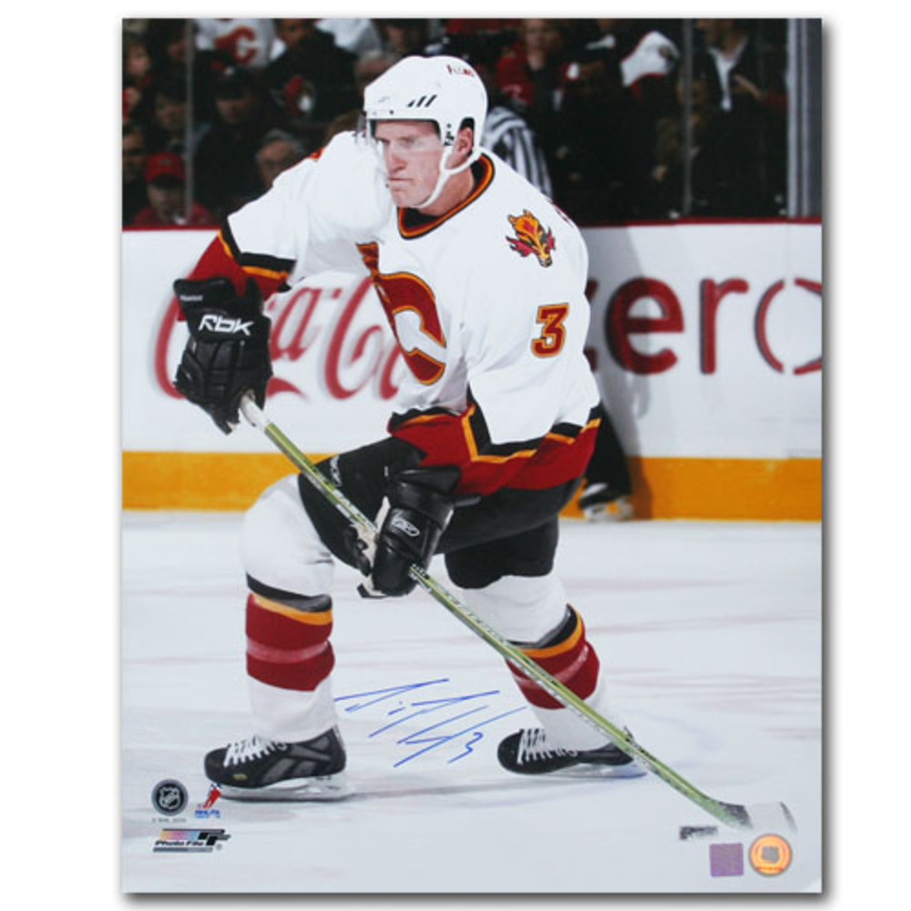 Dion Phaneuf Autographed Calgary Flames 16X20 Photo (Toronto Maple Leafs)