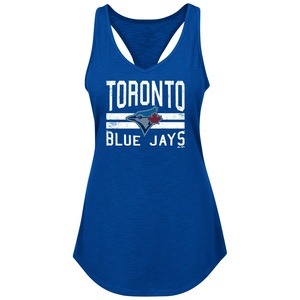 Toronto Blue Jays Girls Four Seamer Racerback Tank Top by Majestic