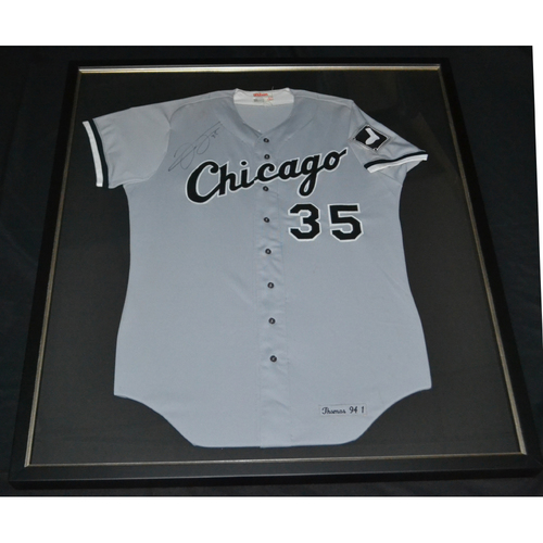 Photo of Sox Serve Week - The Big Hurt: Framed Frank Thomas Autographed Throwback Jersey