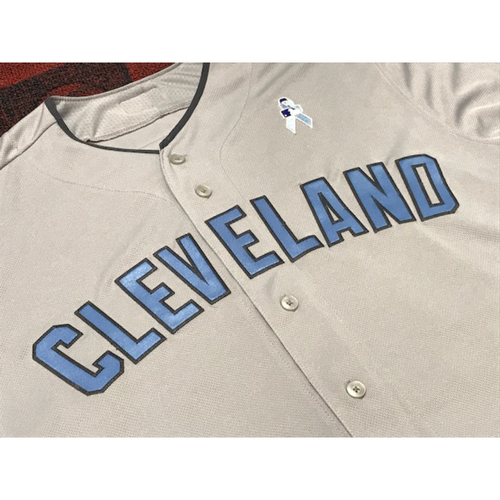 Photo of Lonnie Chisenhall Game Worn Father's Day Jersey