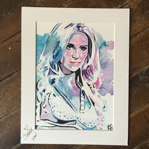 Photo of Charlotte SIGNED Rob Schamberger Painting