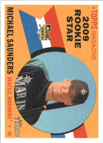 Photo of 2009 Topps Heritage #517 Michael Saunders RC