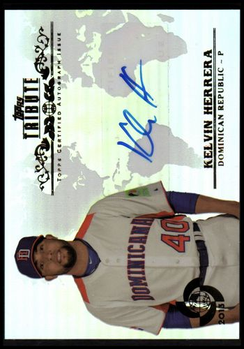 Photo of 2013 Topps Tribute WBC Autographs #KH Kelvin Herrera