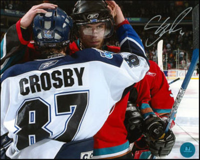 SHEA WEBER Kelowna Rockets SIGNED 8x10 Photo w/ Crosby