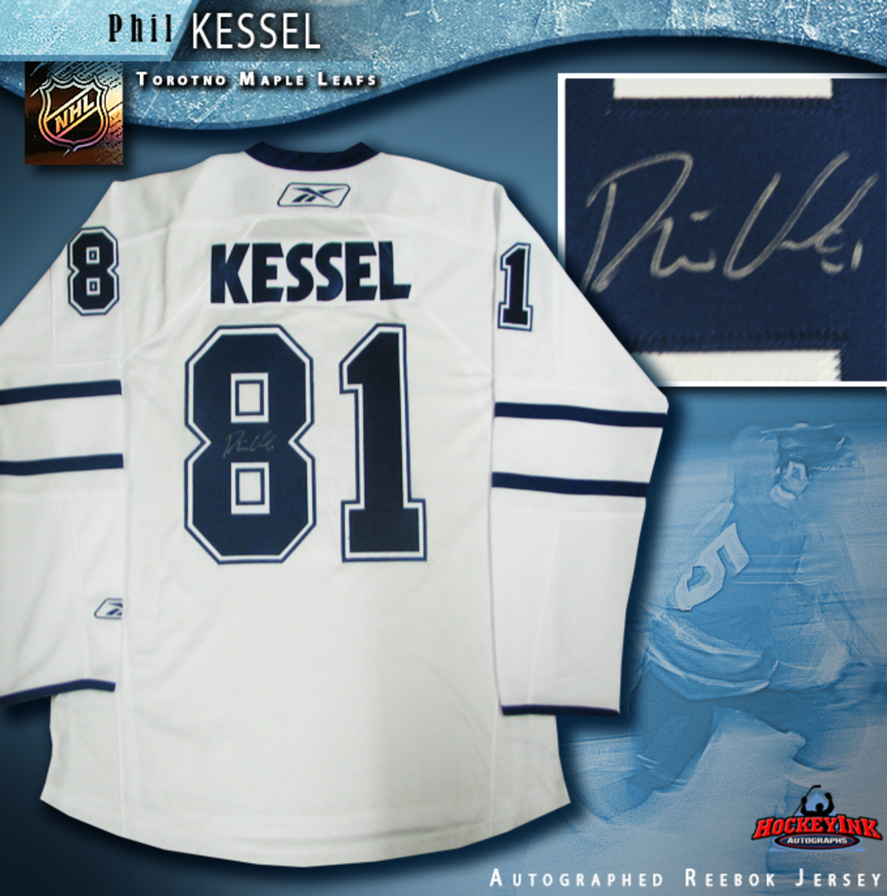 PHIL KESSEL Signed Toronto Maple Leafs White RBK 2010-11 Premier Jersey