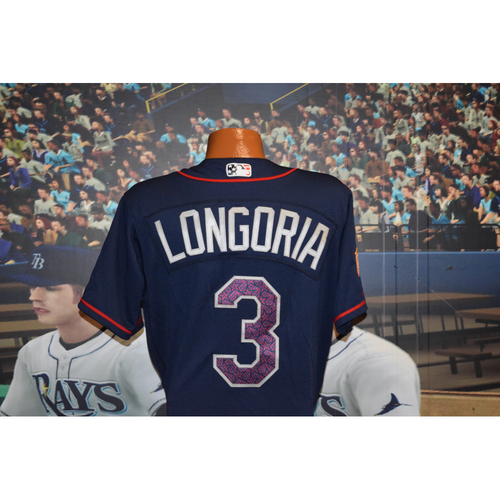 Photo of Game-Used July 4th Jersey: Evan Longoria