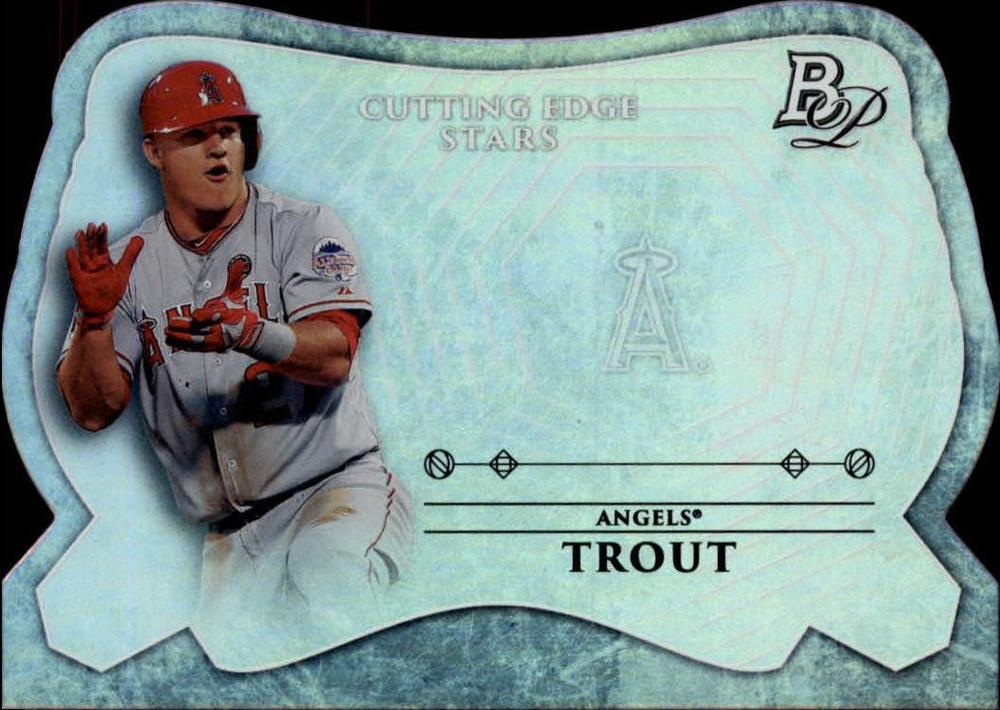 2014 Bowman Platinum Cutting Edge Stars #CESMTR Mike Trout