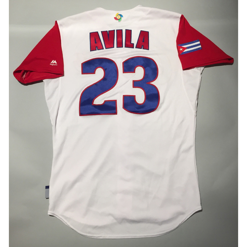 Photo of 2017 WBC: Cuba Game-Used Home Jersey, Avila #23