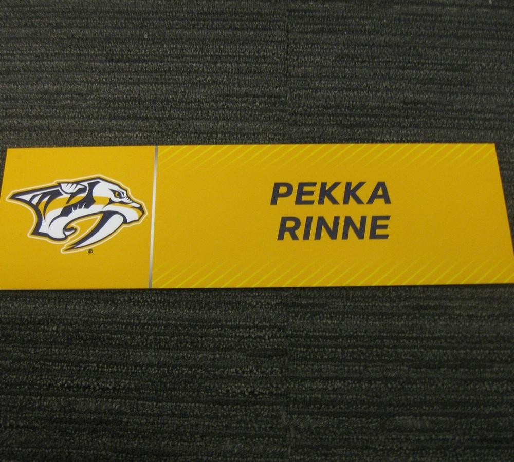 Pekka Rinne 2017 Stanley Cup Final Media Name Plate - Nashville Predators