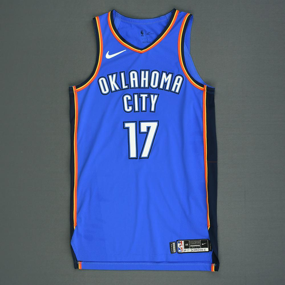 Dennis Schroder - Oklahoma City Thunder - Kia NBA Tip-Off 2018 - Game-Worn Icon Edition Jersey
