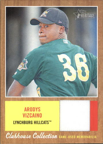 Photo of 2011 Topps Heritage Minors Clubhouse Collection Relics #AV Arodys Vizcaino