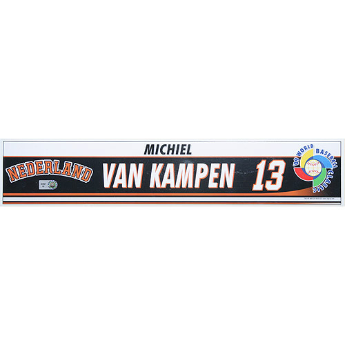 Photo of 2009 World Baseball Classic: Michiel Van Kampen (NED) Game-Used Locker Name Plate