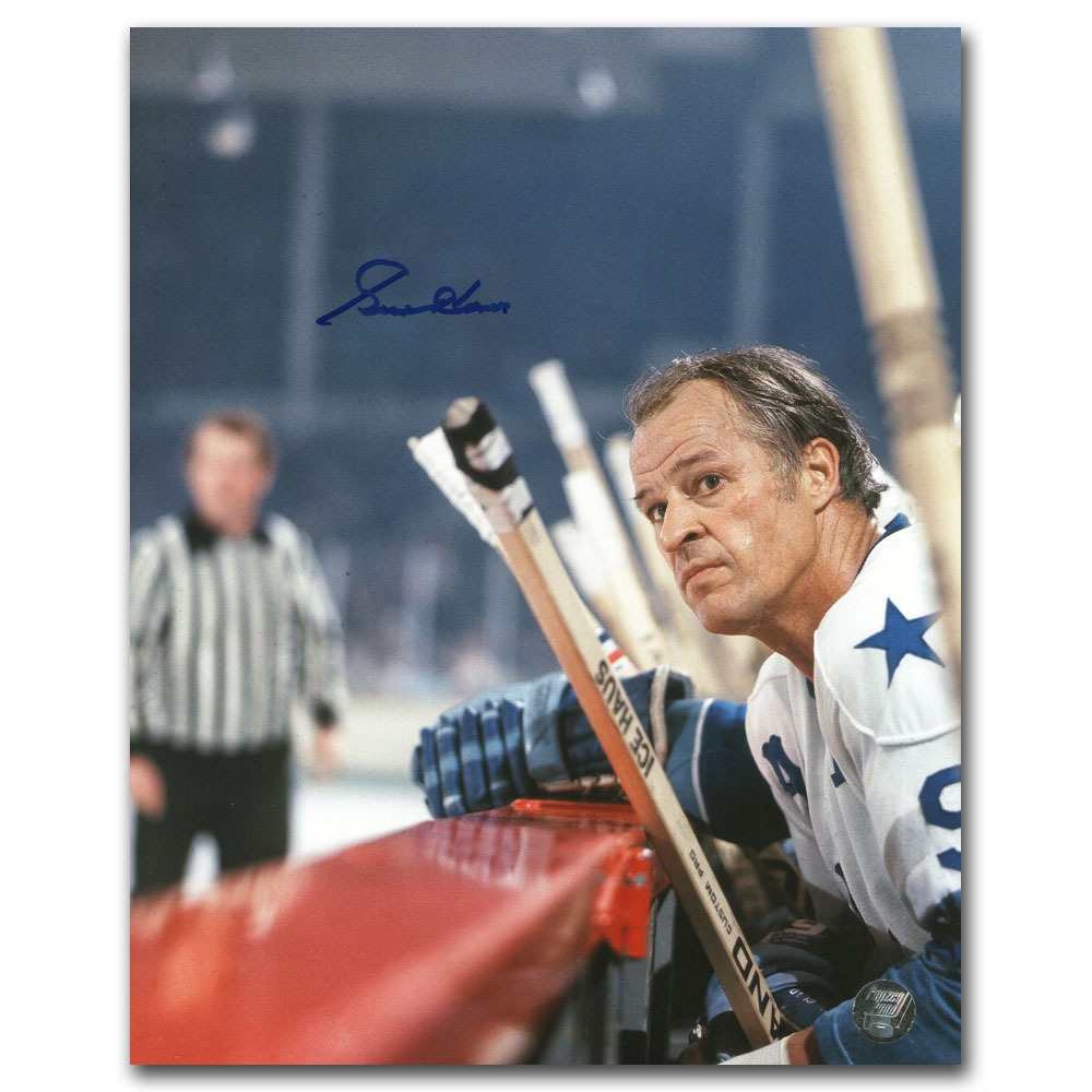 Gordie Howe Autographed Houston Aeros 8X10 Photo